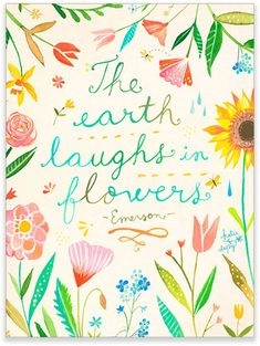 "The Earth Laughs in Flowers"" Wall Art"