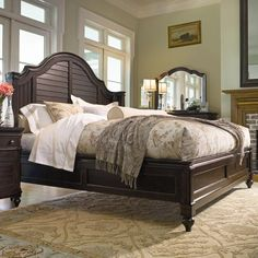 Paula Deen Home Queen Steel Magnolia Bed with Panel Headboard and Low Footboard by Paula Deen by Universal - Hudson's Furniture - Platform or Low Profile Bed Tampa, St Petersburg, Orlando, Ormond Beach