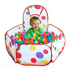 ***limited time offer - include 100pcs of Eco-Friendly Colourful Soft Plastic Balls for Baby *** Baby children kids outdoor & indoor playing house tent, ocean ball pool. Dimensions: 100cmX100cmX37cm S