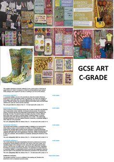 C-Grade GCSE Art Example - Applied Arts
