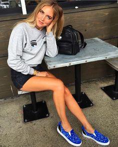 2244a580a Chiara Ferragni wearing the new piercing sweatshirt, mini piercing backpack  and bandana slipons #regram