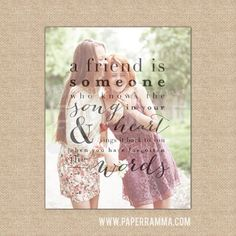 Best Friend Photo Quote Custom Birthday Gift Song In Your Heart