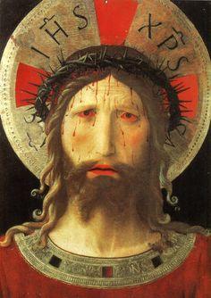 Pintura italiana del Renacimiento... Autor: Fran Angelico... Titulo: Cristo coronado en espinas... Ubicación: Museo Fattori. Livorno ...Fecha: 1420