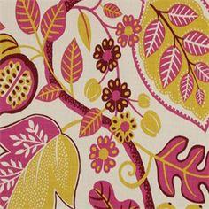 Chloe Ruby Red Floral Drapery Fabric by P. Kaufmann - SW51200 - Fashion Fabrics Club