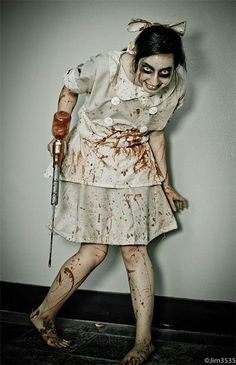this would be fun to walk around and scare kids with. they'll never want to get a shot again