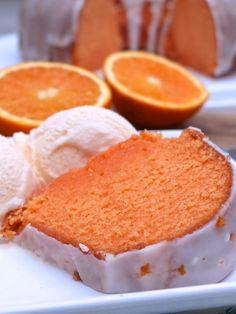 Glazed Orange Dream Pound Cake - Looks Yummy. Pound Cake Glaze, Glaze For Cake, Halloween Desserts, Cupcakes, Cupcake Cakes, Divas Can Cook, Cheesecake, Pound Cake Recipes, Pound Cakes