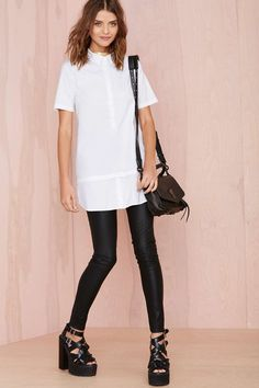 White Lies Shirtdress