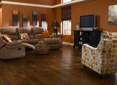 Master Design Rustic Hickory Laminate Flooring. Saw similar ones at http://www.simiflooring.com/