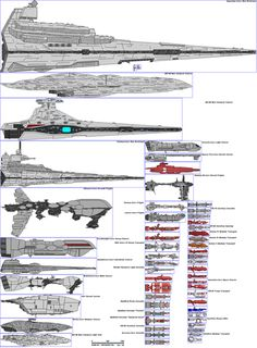 Side views of various SW Capital ships drawn to - See this image on Photobucket.