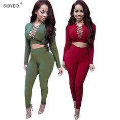Sexy Barboteuses Femmes Salopette 2016 Manches Longues Criss Croix Salopette Pour Femmes Body Coton Moulante Combinaisons Et Salopettes