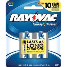 Rayovac 814-2F C Alkaline Battery