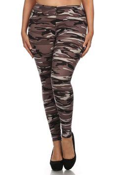 Camo Design Plus Size Leggings – Niobe Clothing