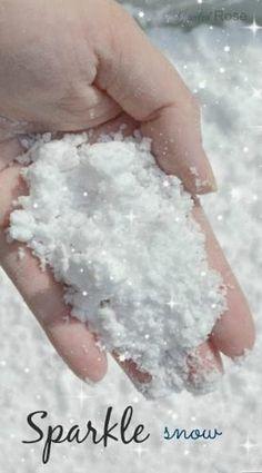 sparkle pretend snow