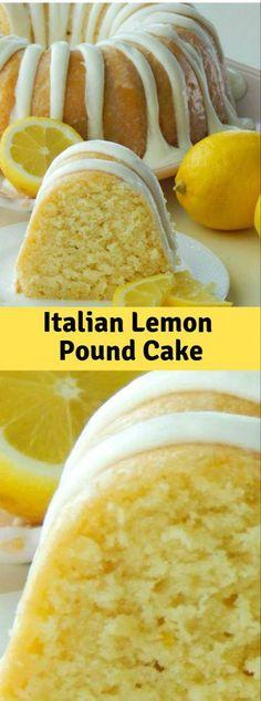 Italian Lemon Pound Cake Italian Lemon Poúnd Cake is the only lemon cake recipe yoú will ever need! Yoú are going to love the súper moist textúre and the rich citrús flavor… - Italian Lemon Pound Cake Lemon Dessert Recipes, Köstliche Desserts, Pound Cake Recipes, Lemon Recipes, Baking Recipes, Italian Lemon Pound Cake, Lemon Bundt Cake, Lemon Pound Cakes, Italian Cake