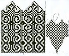 Ideas For Knitting Patterns Mittens Charts Knitting Charts, Knitting Socks, Hand Knitting, Knitted Mittens Pattern, Crochet Mittens, Designer Knitting Patterns, Knitting Patterns Free, Norwegian Knitting, Knit Basket