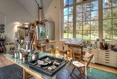 artist studio in countryside