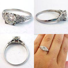 #diamond #rings #jewelry Amazing vintage engagement ring #fashion #wedding