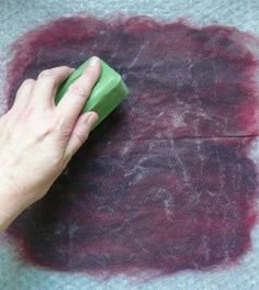 Excellent wet felting tutorial