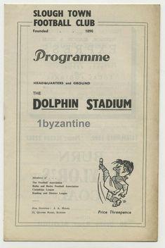 1948 Slough v Hounslow Town non League Football Programme Dolphin Stadium Football Program, Programming, June, London, Reading, Ebay, Word Reading, The Reader