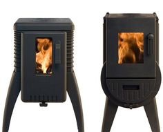These small wood burning stoves are entirely made in Germany and is a model of quality. These stoves are perfect for your own home and f. Morso Wood Stove, Wood Stoves, Small Wood Burning Stove, Used Camping Trailers, Coal Stove, Cast Iron Stove, Small Fireplace, Wood Burner, Small Places