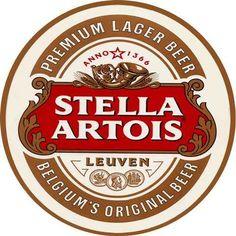 11652 - CERVEJA - STELLA ARTOIS - formato redondo - 29x29-