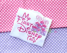 My First Disney Trip Embroidered Shirt or Onesie by smallwonders00, $20.00