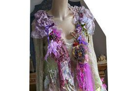 Arte para usar femenino chaleco transparente seda por Paulina722