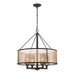 ELK Lighting 57027/4 Diffusion Collection Oil Rubbed Bronze Finish