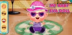 Do different #Caring activities with #baby Eva like give her bath, choose outfits & many more in this #BabySitter #kidsgame.