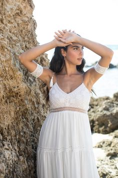 Bridal arm cuffs - to upgrade your look on your special day. #bridalaccesories, #Bohobridaljewelry, #Armbracelet, #armcuff, #lacebraceletcuff, #laceaccessroeis, #bridesmaidaccessories