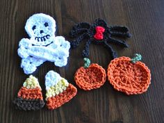 Crochet Pattern--Halloween Applique Set