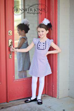 Kates Dress - 12 mths to 8 yrs - PDF Pattern and Instructions -  A-line, 2 yoke options, lined bodice. $6.90, via Etsy.