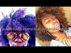 Manic Panic Purple Haze on Natural Hair