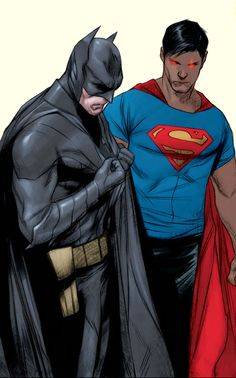 #Earth2 Batman and #New52 Superman by Jae Lee & Ben Oliver #ThomasWayne