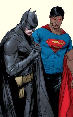 #Earth2 Batman and #New52 Superman by Jae Lee & Ben Oliver #ThomasWayne