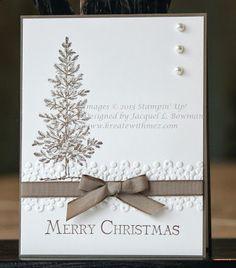 Stampin Up Christmas, Christmas Tree, Handmade Card