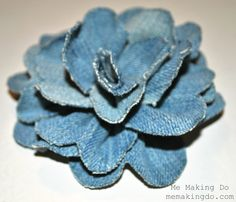 Me Making Do: Denim Flower