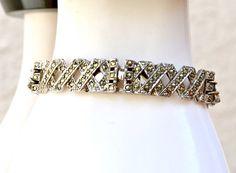 Art Deco Marcasite Vintage Bracelet by HighClassHighway on Etsy #vogueteam #vintage #jewelry