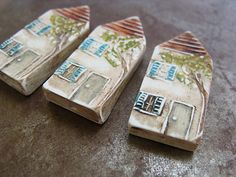 Folk Art House Bead - Heather Powers - $15.00