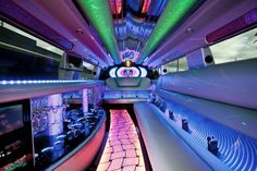 wedding limousines Melbourne - inside our big 12 seater SUV limousine