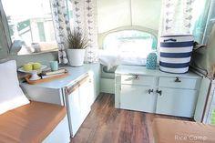 Rice Camp - Pop up tent trailer remodel.  # Camper # glamour