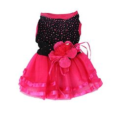 Norbi Pet Puppy Dog Rose Flower Clothes Wedding Dress *** Visit the image link for more details.
