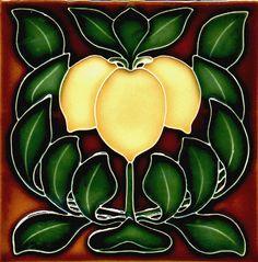 Historic Tiles - Moulded Art Nouveau Tiles - Lemons
