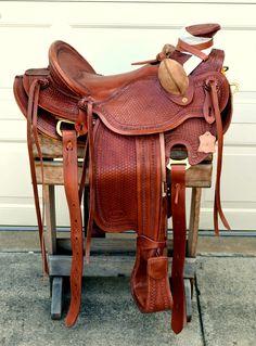 16 Western Buckaroo Roping Ranch Trail Wade A Fork Saddle No Reserve   eBay