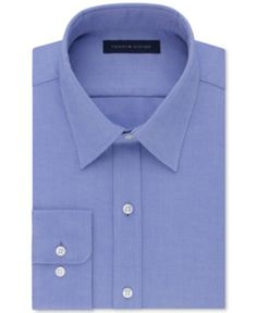 acb62c48 Tommy Hilfiger Men's Athletic Fit Performance Stretch Th Flex Collar Dress  Shirt, Created for Macy's