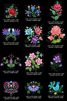 Polish Folk Art - Floral Machine Embroidery Designs - $12.99 : Golden Needle Designs, Top-Quality Machine Embroidery Designs
