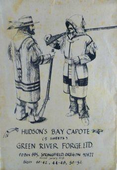 Vintage Hudson Bay Capote Blanket Coat by VintageNeedleFinds Capote Coat, Mountain Man Rendezvous, Hudson Bay Blanket, Longhunter, Blanket Coat, Fur Trade, Canadian History, Camping Survival, Bushcraft