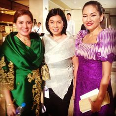 .@chiarazambrano   The Sisters Hontiveros. And, well, little old me. @piahontiveros @risahontive...   Webstagram - the best Instagram viewer Filipiniana Dress, Barong, Traditional Dresses, Dress Outfits, Sisters, Sari, Gowns, Costumes, Clothing