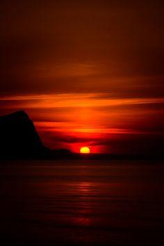 Japan オタモイ海岸の夕日