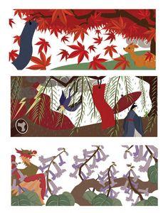 kelsey cretcher hanafuda illustration (october -december)